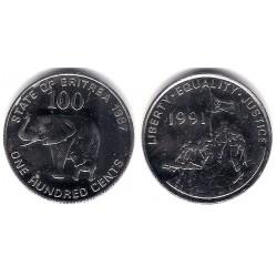 (48) Eritrea. 1997. 100 Cents (SC)