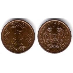 (2a) Kazajstan. 1993. 5 Tyin (SC)