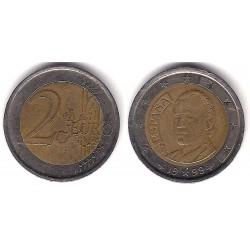 España. 1999. 2 Euro (BC) Excesos de Metal