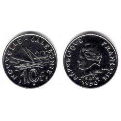 (11) Nueva Caledonia. 1990. 10 Francs (SC)