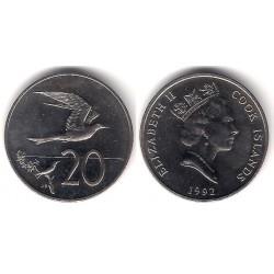 (35) Islas Cook. 1992. 20 Cents (SC)