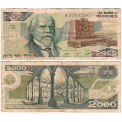 (86b) Estados Unidos Mexicanos. 1987. 2000 Pesos (BC)