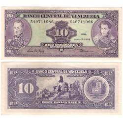 (61d) Venezuela. 1995. 10 Bolivares (EBC)
