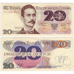 (149a) Polonia. 1982. 20 Zlotych (EBC+)