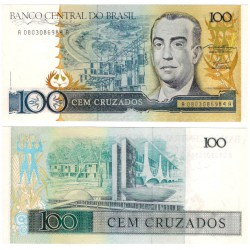 (211a) Brasil. 1986-88. 100 Cruzeiros (SC)