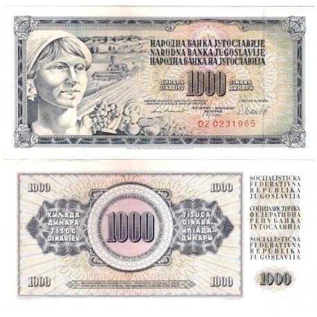 (92d) Yugoslavia. 1981. 1000 Dinara (EBC)