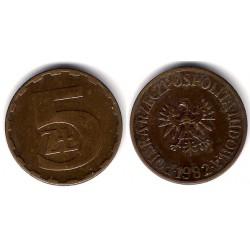 (Y81.1) Polonia. 1982. 5 Zlotych (MBC)