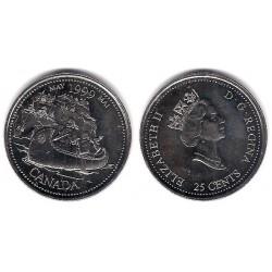 (346) Canadá. 1999. 25 Cents (SC)