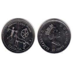 (342) Canadá. 1999. 25 Cents (SC)