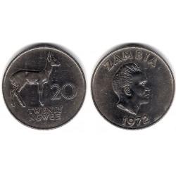 (13) Zambia. 1972. 20 Ngwee (MBC+)
