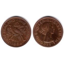 (24.2) Nueva Zelanda. 1964. 1 Penny (MBC+)