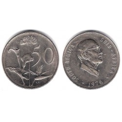 (96) Sudáfrica. 1976. 50 Cents (MBC)