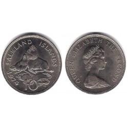 (5.1) Islas Malvinas. 1974. 10 Pence (SC)
