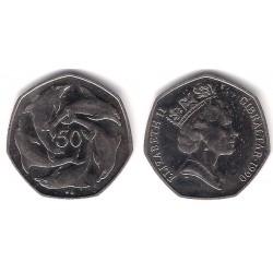 (39) Gibraltar. 1990. 50 Pence (SC)