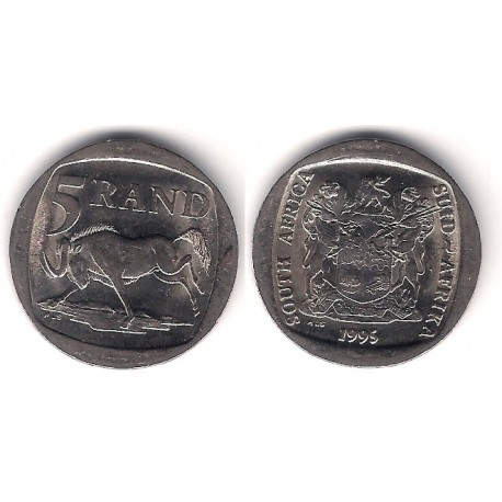 (140) Sudáfrica. 1995. 5 Rand (MBC)