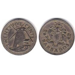 (13) Barbados. 1981. 25 Cents (BC)