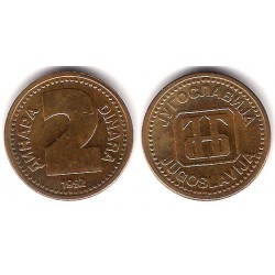 (150) Yugoslavia. 1992. 2 Dinara (EBC)