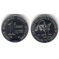 (8) Estados África Oeste. 1978. 1 Franc (SC)