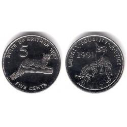 (44) Eritrea. 1997. 5 Cents (SC)