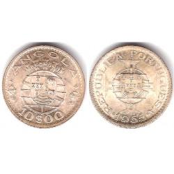 (73) Angola. 1955. 10 Escudos (SC) (Plata)