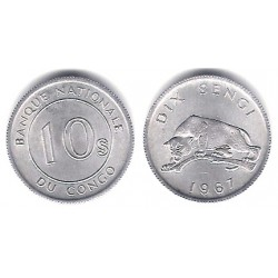 (7) Congo. 1967. 10 Sengi (SC)