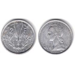 (4) Africa Occidental Francesa. 1948. 2 Francs (EBC+)