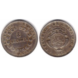 (183) Costa Rica. 1948. 2 Colones (MBC)