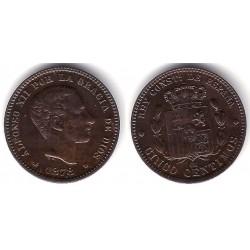 Alfonso XII. 1878. 5 Céntimos (SC-) Ceca de Barcelona OM
