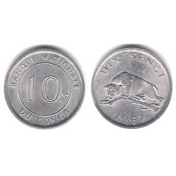 (7) Congo. 1967. 10 Sengi (EBC+)