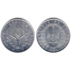 (22) Djibouti. 1991. 5 Francs (SC)