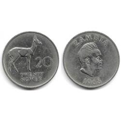 (13) Zambia. 1968. 20 Ngwee (BC+)