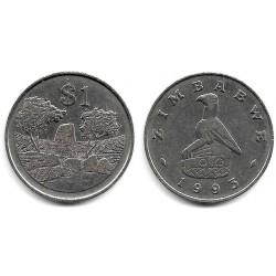 (6) Zimbabue. 1993. 1 Dollar (MBC)