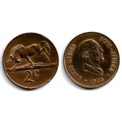 (92) Sudáfrica. 1976. 2 Cents (MBC+)