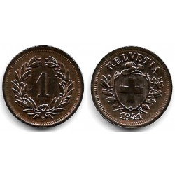 (3.2) Suiza. 1941(B). 1 Rappen (SC)
