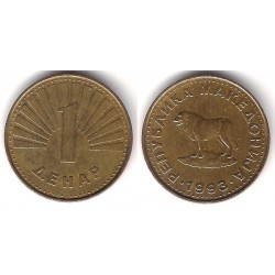 (2) Macedonia. 1993. 1 Denar (MBC-)