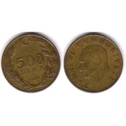(989) Turquía. 1989. 500 Lira (MBC)