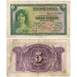 España. 1935. 5 Pesetas (BC) Serie D