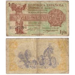 España (II República). 1937. 1 Peseta (BC) Serie B
