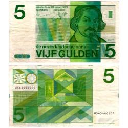 (95a) Países Bajos. 1973. 5 Gulden (MBC)
