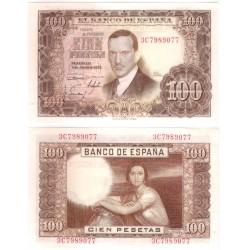Estado Español. 1953. 100 Pesetas (EBC+) Serie 3C