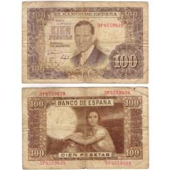 Estado Español. 1953. 100 Pesetas (RC+) Serie 3P