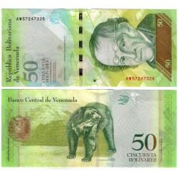 (92k) Venezuela. 2015. 50 Bolivares (SC)