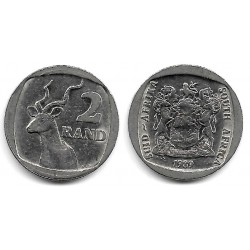 (139) Sudáfrica. 1989. 2 Rand (MBC)