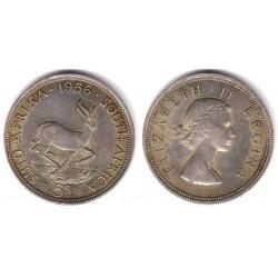 (52) Sudáfrica. 1256. 5 Shillings (EBC) (Plata)