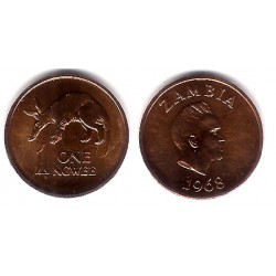 (9) Zambia. 1968. 1 Ngwee (EBC+)