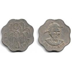 (10) Suazilandia. 1979. 10 Cents (BC)