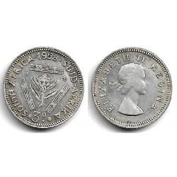 (47) Sudáfrica. 1958. 3 Pence (MBC) (Plata)