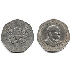 (23) Kenia. 1985. 5 Shillings (BC+)