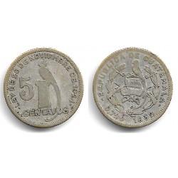 (238.2) Guatemala. 1932. 5 Centavos (BC) (Plata)