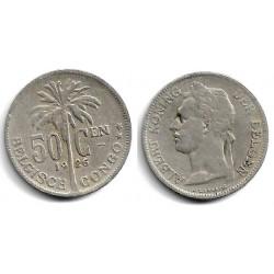 (22) Congo Belga. 1926. 50 Centimes (MBC-)